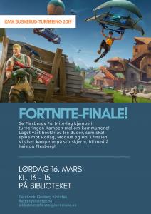 Fortnite-finale på biblioteket